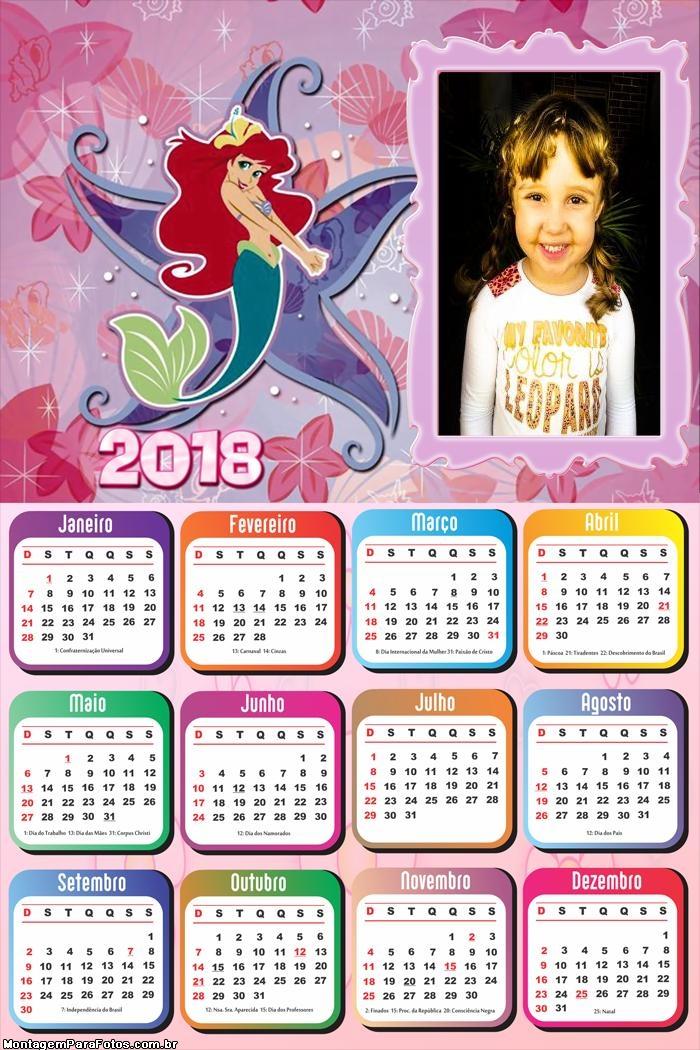 Calendário 2018 Sereira e Estrela do Mar