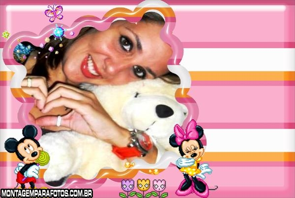 Minie e Mickey Game Moldura