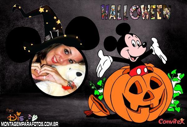 Moldura Halloween do Mickey