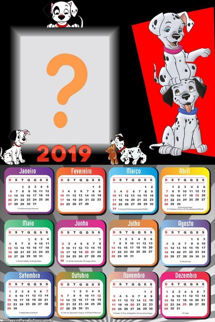 Calendário 2019 Dalmatas Filme