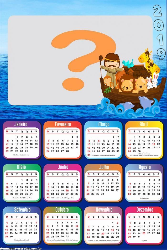 Calendário 2019 Arca de Noé