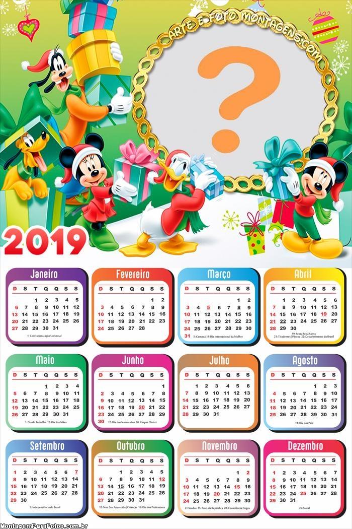 Calendário 2019 Natal da Turma do Mickey