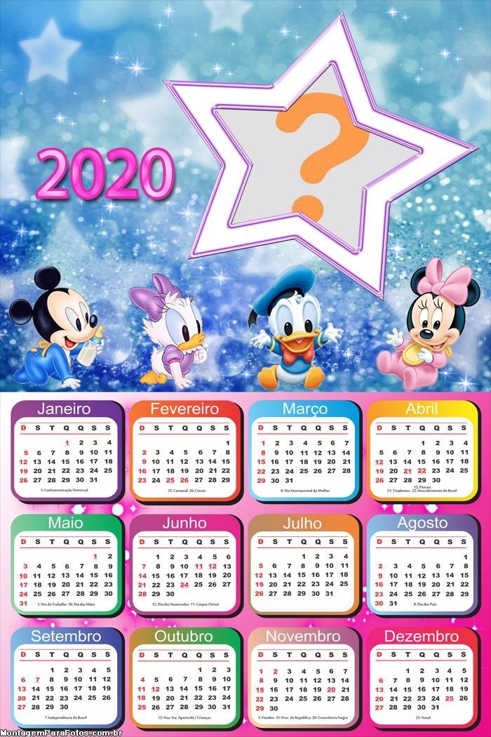 Calendário 2020 Disney Baby Infantil
