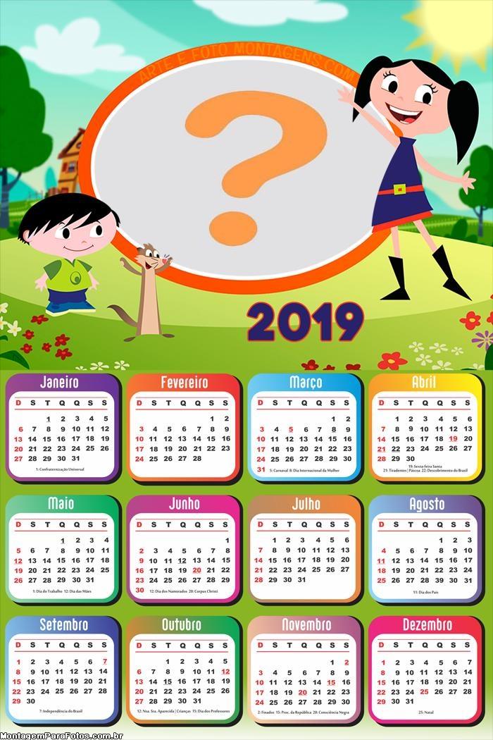 Calendário 2019 Show da Luna
