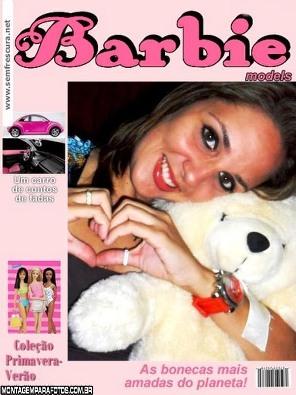 Moldura Revista Barbie Models