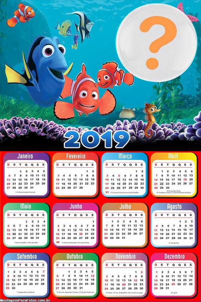 Calendário 2019 Nemo