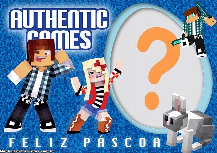Authentic Games Feliz Páscoa Colagem de Foto