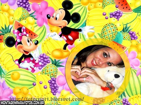 Moldura Frutas Mine e Mickey