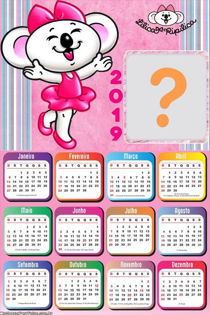 Calendário 2019 Lilica Ripilica Baby