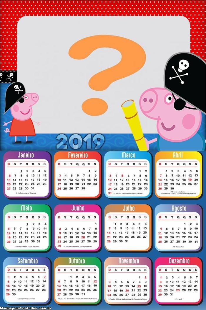 Calendário 2019 George Piratinha