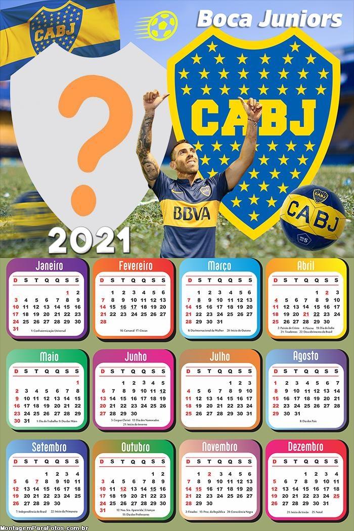 Calendário 2021 Boca Juniors Futebol