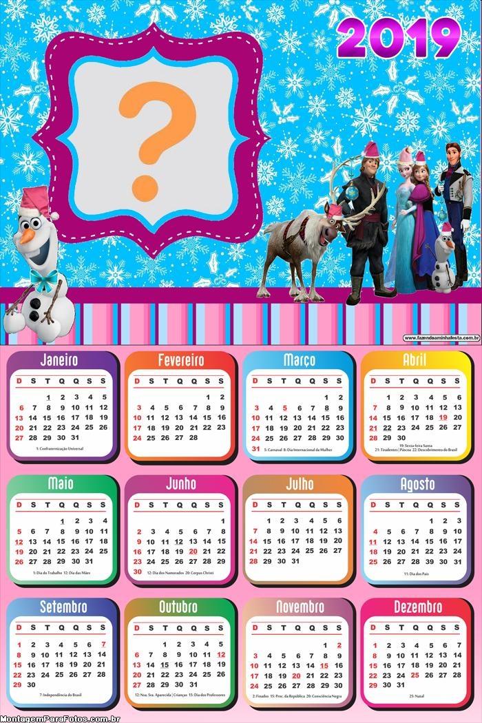 Calendário 2019 Frozen de Natal