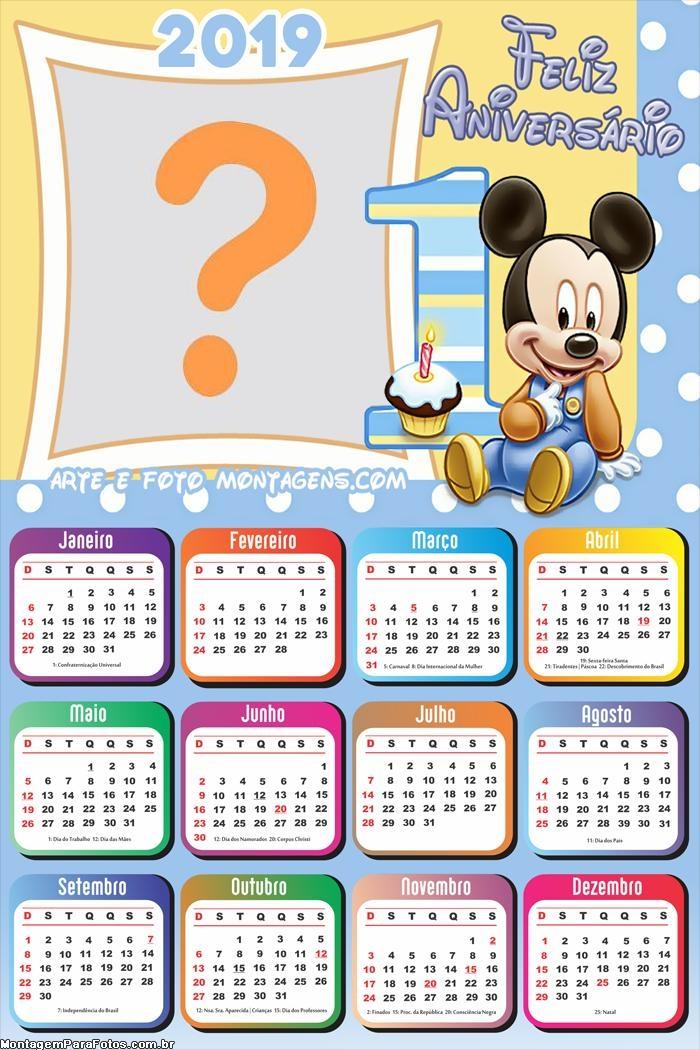 Calendário 2019 Mickey 1 Ano