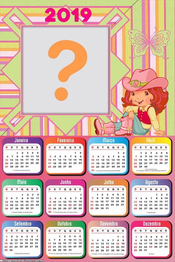 Calendário 2019 Moranguinho Cowgirl