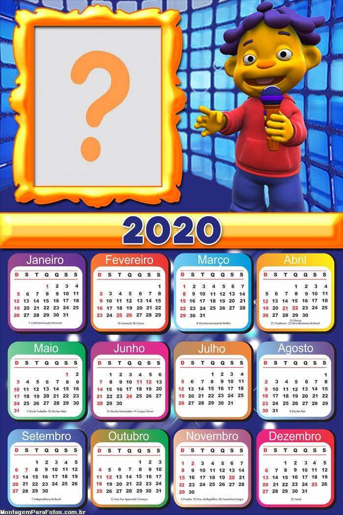 Calendário 2020 Cid Cientista FotoMoldura