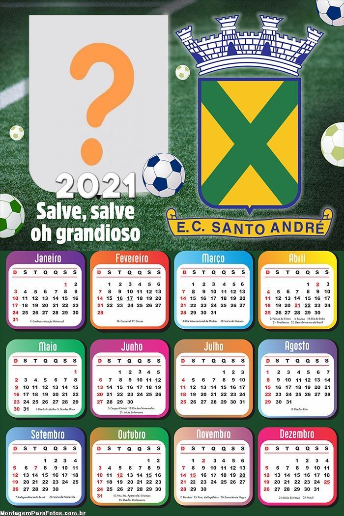 Calendário 2021 Santo André Time de Futebol