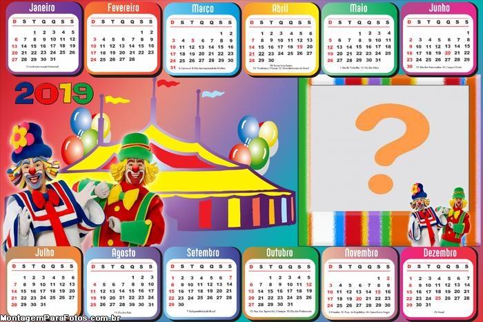 Calendário 2019 Circo Patati Patatá