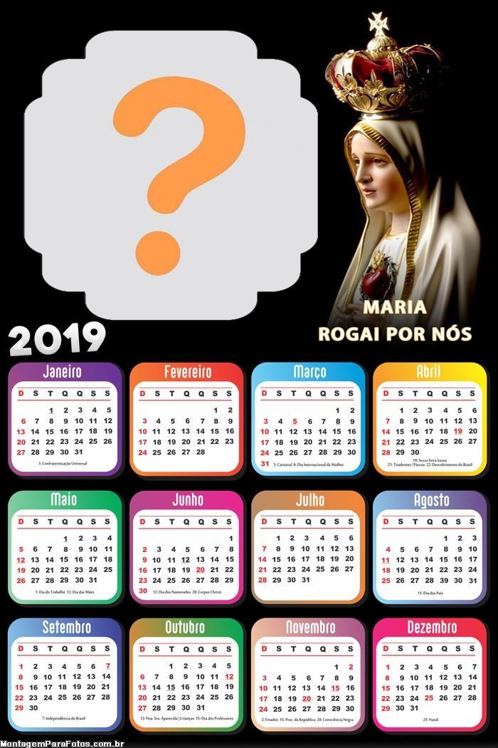Calendário 2019 Maria Rogai por Nós