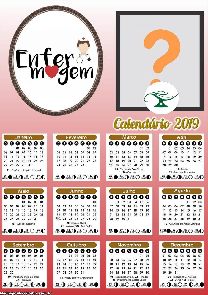 Calendário Enfermagem 2019