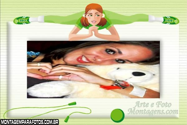 Garota Ginasta Roupa Verde
