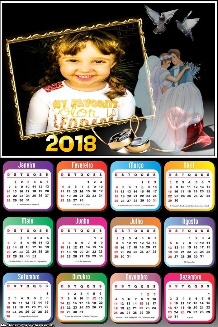 Calendário 2018 Casamento