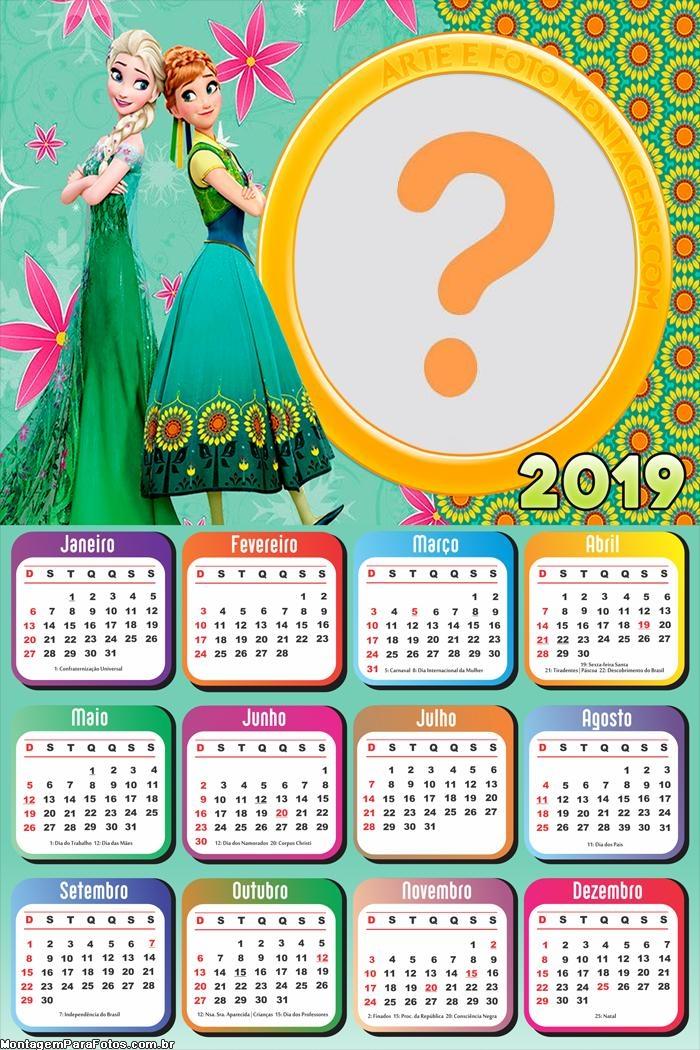 Calendário 2019 Febre Congelante