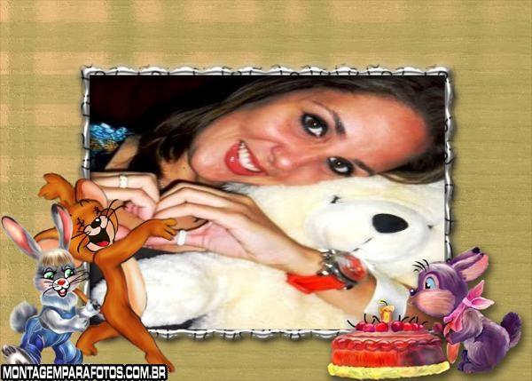Moldura Rato Jerry e Coelhos
