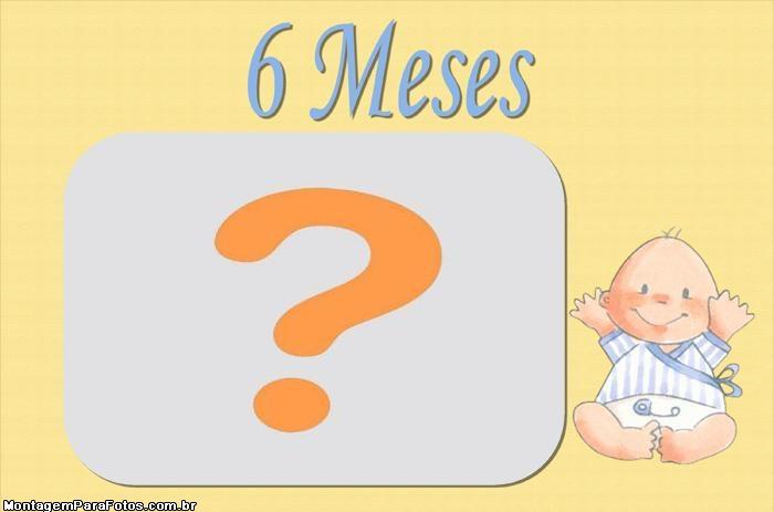 Moldura 6 Meses Meninos