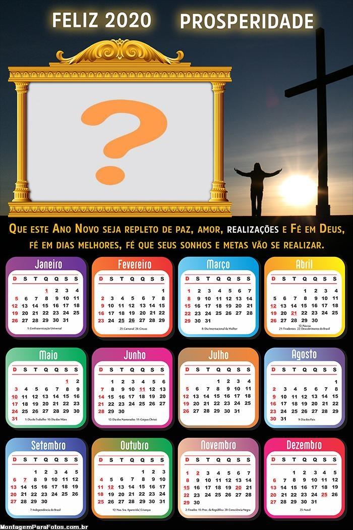 Calendário 2020 Repleto de Paz Ano Novo