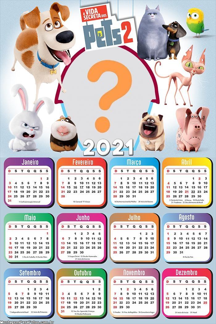 Calendário 2021 A Vida Secreta dos Pets