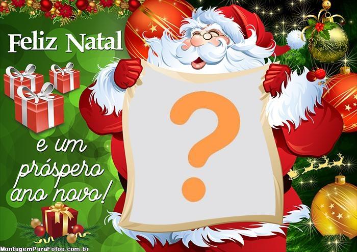 Foto na Carta do Papai Noel Foto Colagem