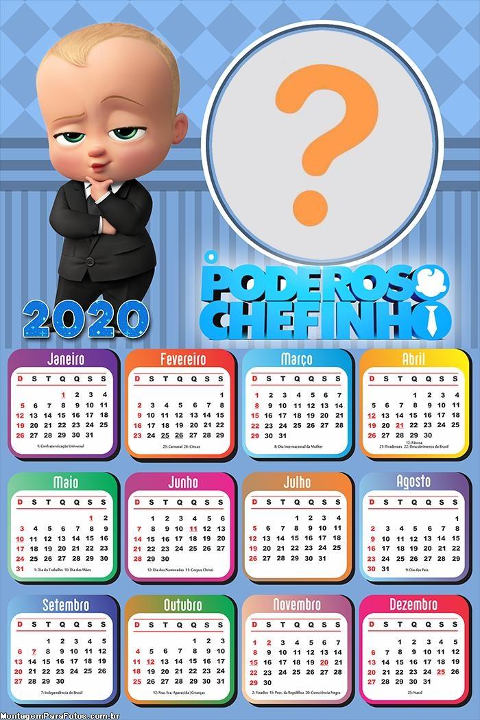 Calendário 2020 do Poderoso Chefinho