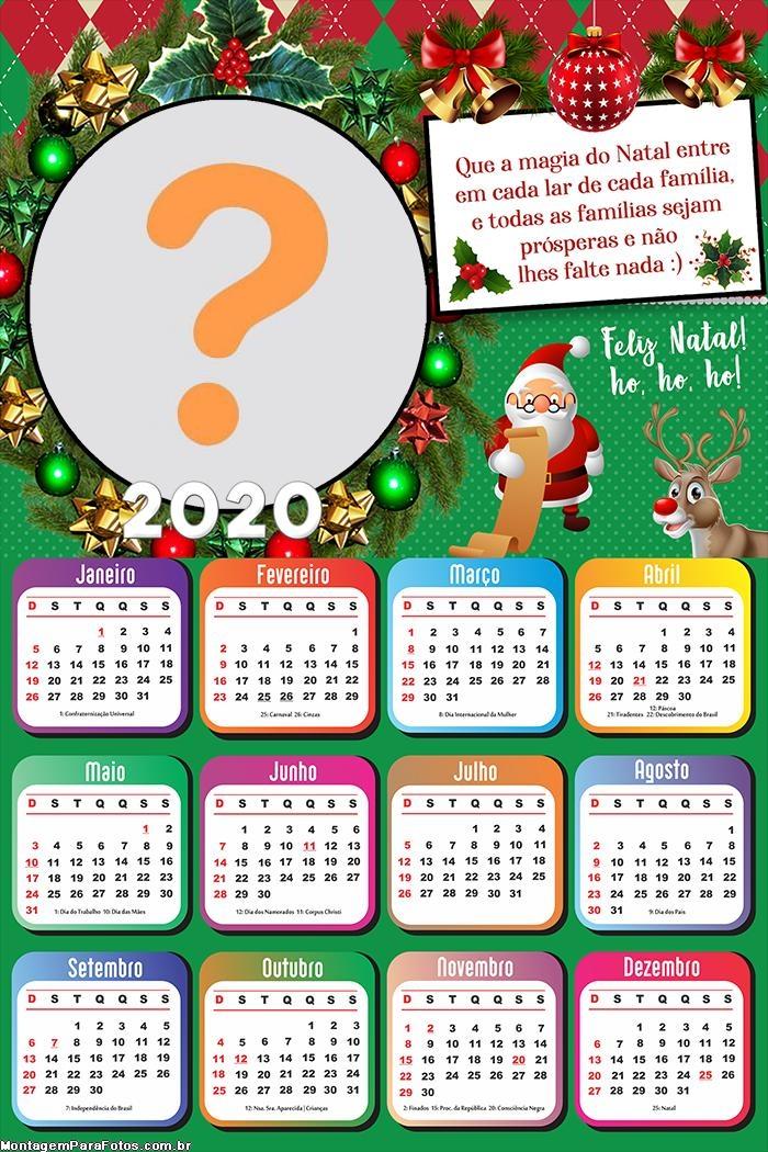 Calendário 2020 Que a Magia do Natal