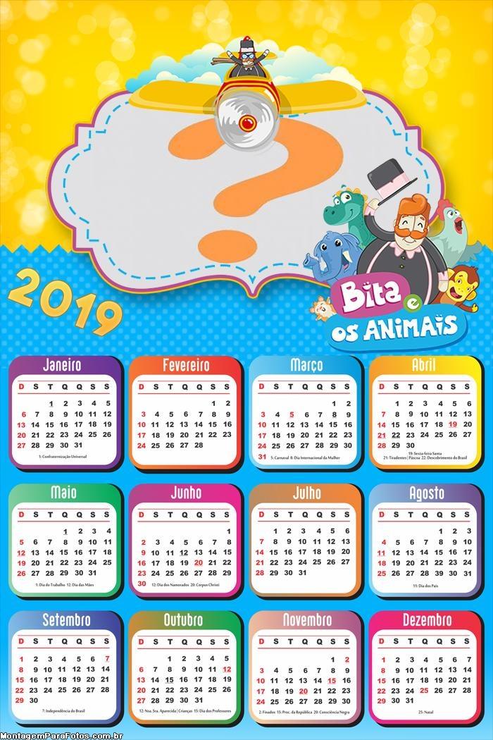 Calendário 2019 Bita e os Animais
