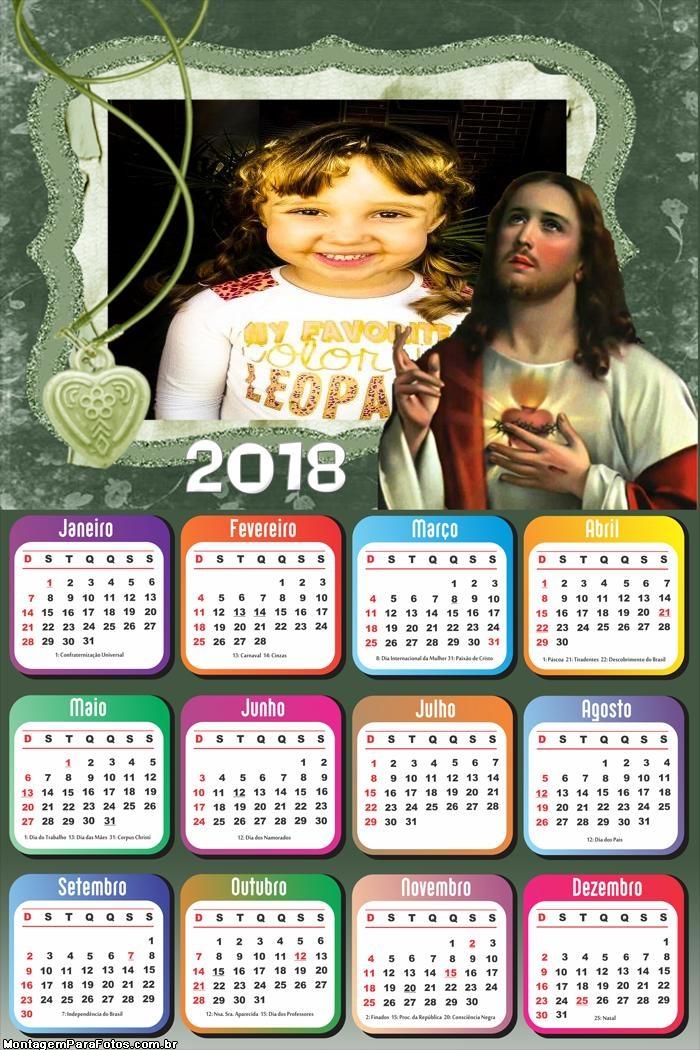 Calendário 2018 de Jesus