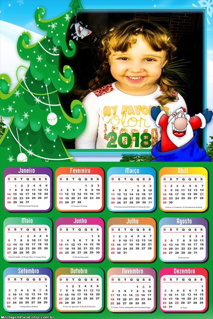 Calendário 2018 Papai Noel CUT