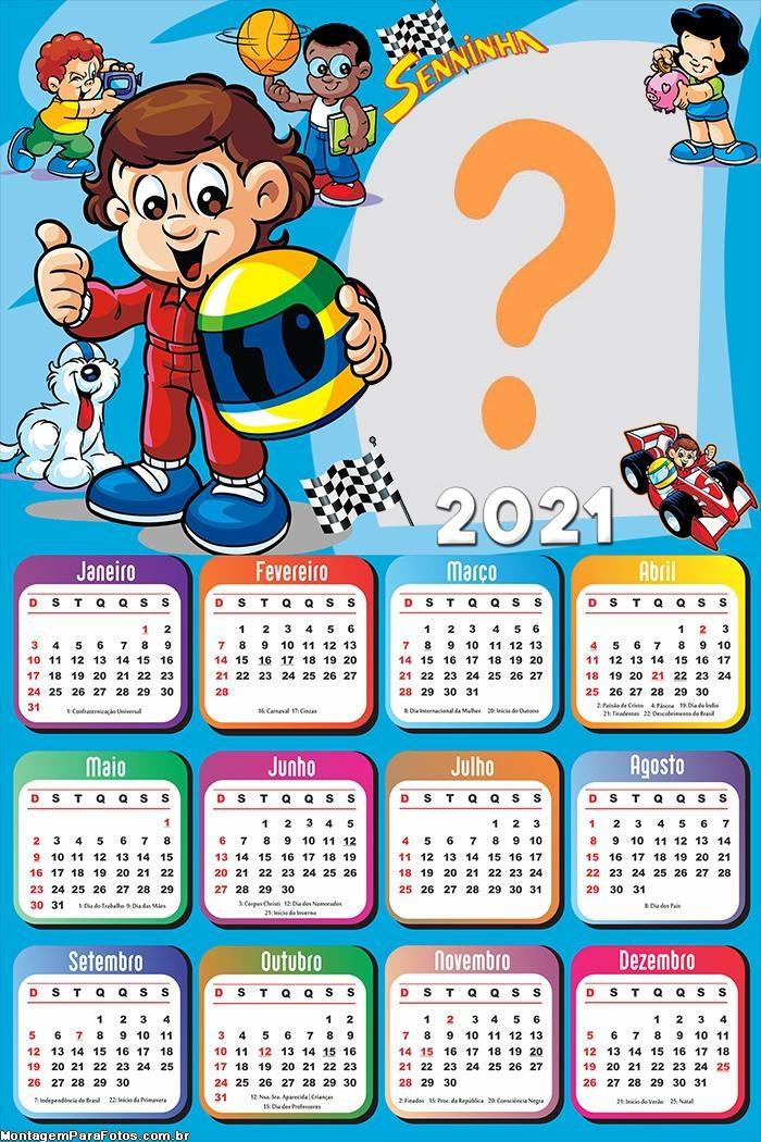 Calendário 2021 Senninha Foto Montagem
