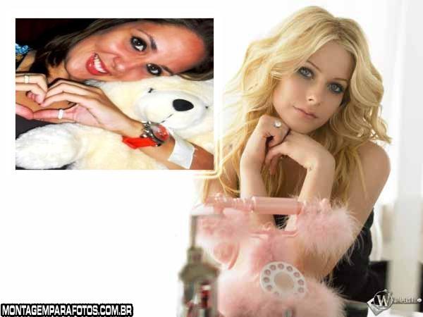 Cantora Avril Lavigne Montagem
