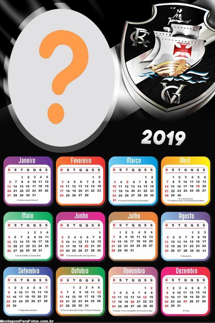 Calendário 2019 do Vasco