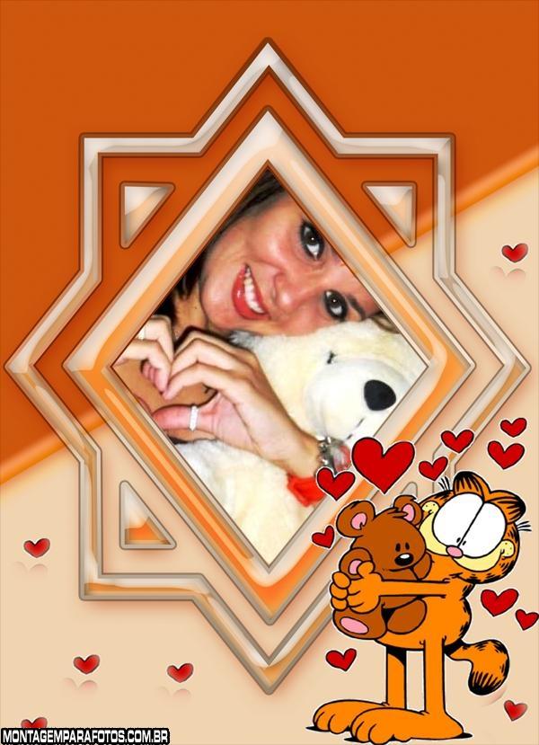 Moldura Garfield com Ursinho