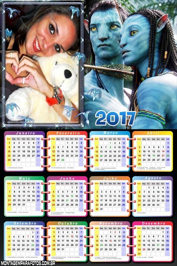 Calendário 2017 Filme Avatar