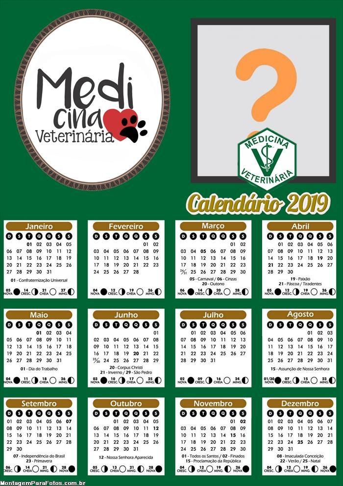 Calendário Medicina Veterinária 2019