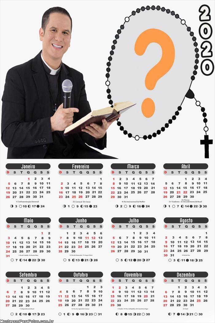 Calendário 2020 Padre Miguel Ângelo
