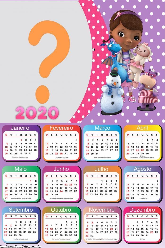 Calendário 2020 Doutora Brinquedos Moldura
