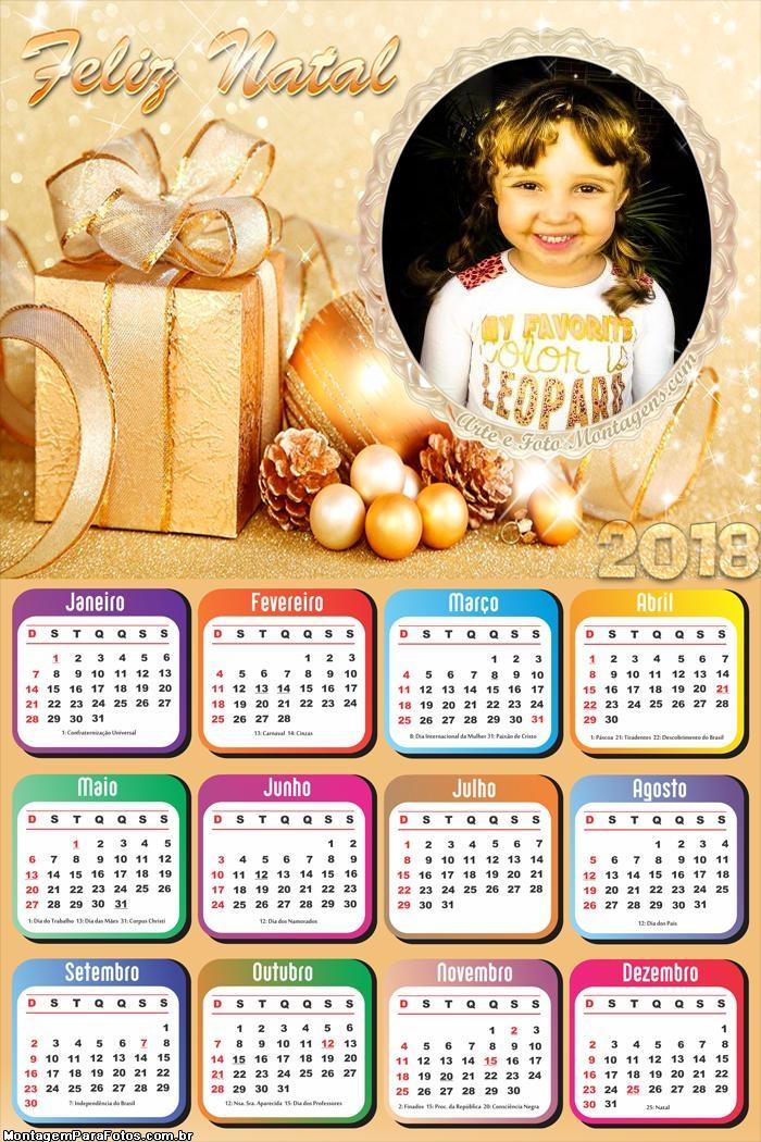 Calendário 2018 Um Feliz Natal Muito Lindo
