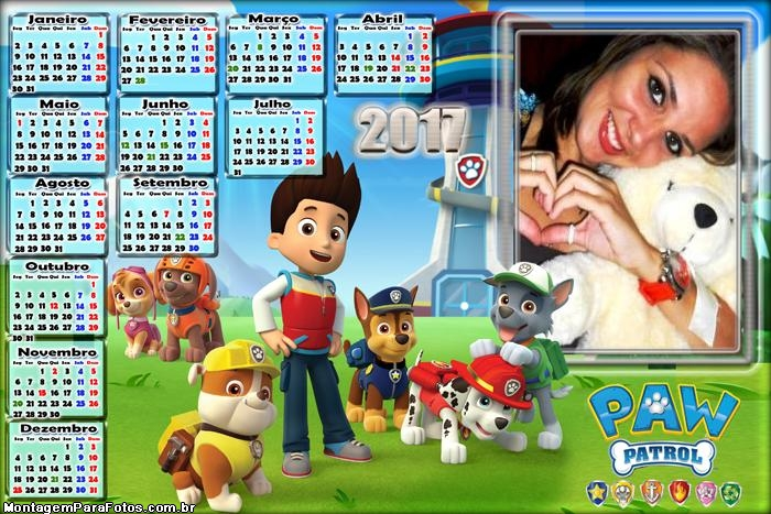 Calendário 2017 Paw Patrol