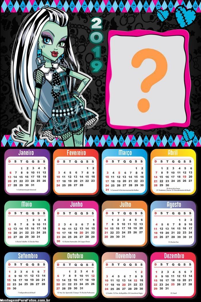 Calendário 2019 Frankie Monster High