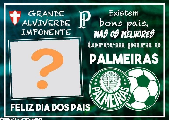 Dia dos Pais Palmeiras Foto Montagem