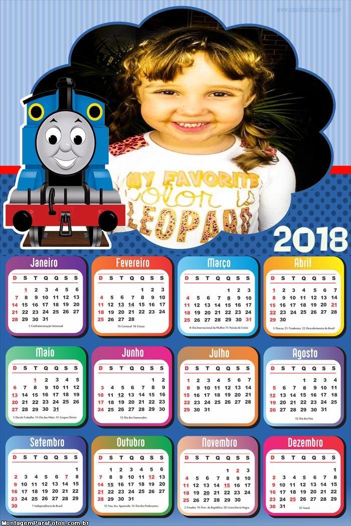Calendário 2018 Thomas e Seus Amigos