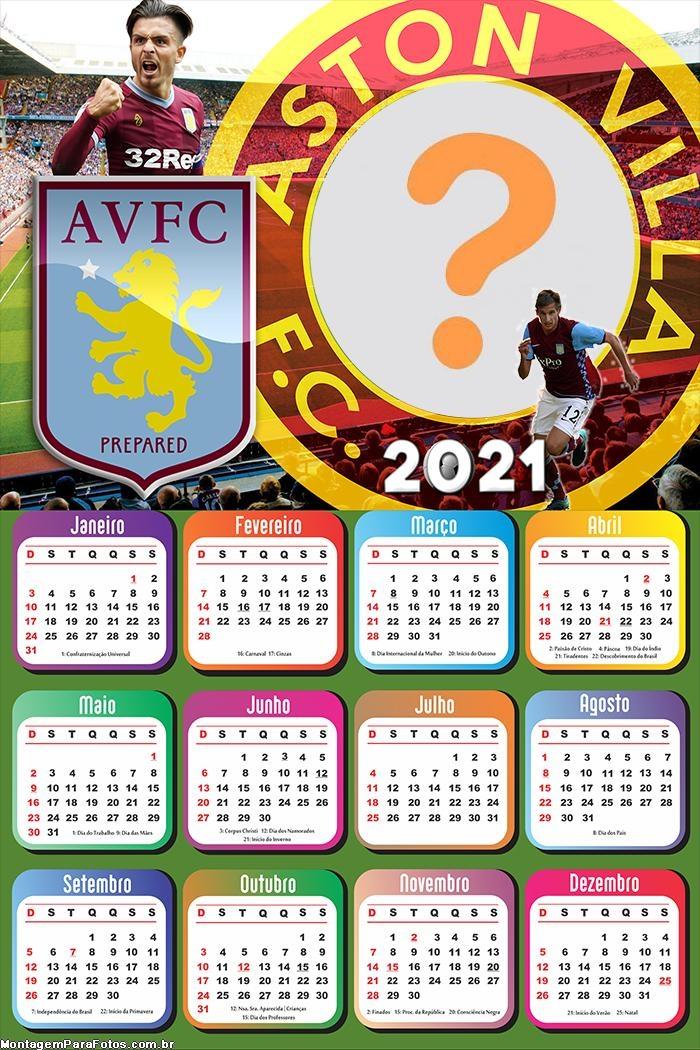 Calendário 2021 Aston Villa Futebol